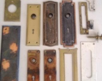 Vintage Door Hardware Lot Brass Free Shipping