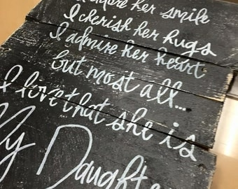 Daughter Quote Sign