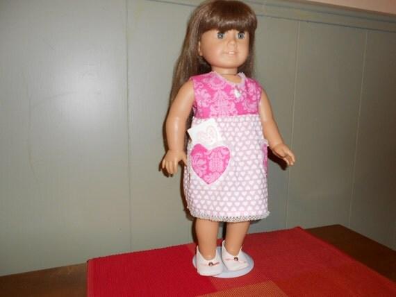 American girl valentine heart dress