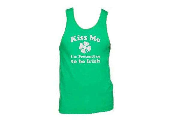Kiss Me I'm Pretending To Be Irish. Green Sweatshirt. St Patrick's Day Sweatshirt. Adult Sweatshirt. Funny Shirts. Workout Clothes. Green.