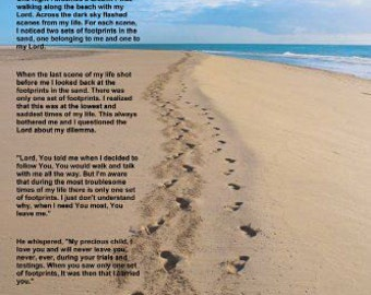 Footprints In The Sand 11x17 Poster