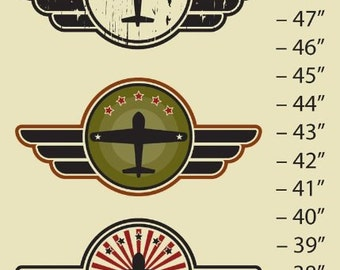 """Growth Chart, Planes, Canvas 12"""" x 42"""" Easy to Hang"""