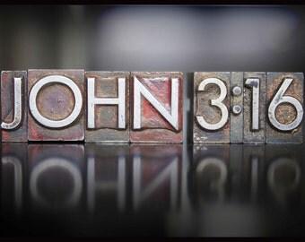 "John 3:16 Gospel of John - Wall Quotes Ultra Board Poster 12 x18"""