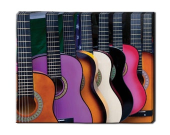 """Mexican Guitars - Canvas Prints - Framed and Ready to Hang - Print on Canvas - Wall Art - 16x20"""""""