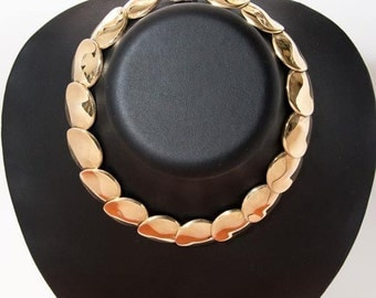 Vintage sterling silver-gold plated necklace 4149