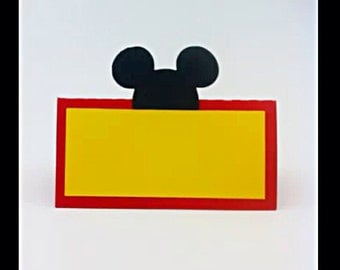 Mickey Mouse Place Cards - food tents - disney - food labels - party decor