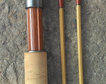 """New Splite Bamboo Fly Rod 7'0"""" #4,two piece with two tips."""