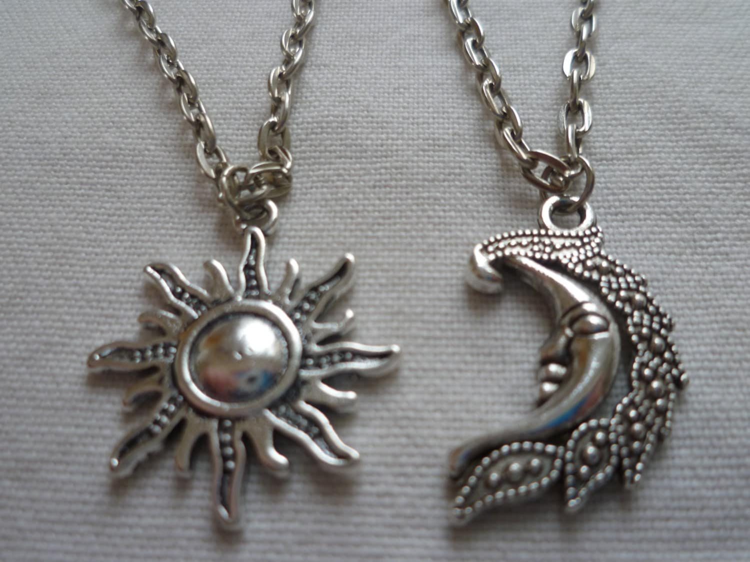 sun and moon necklace setbest friends necklace