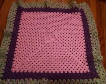 Baby Girl Crotchet Blanket