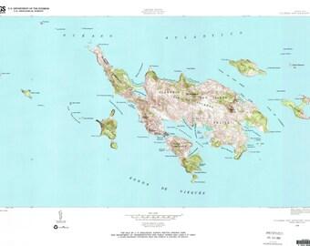 Culebra Historical Topographic Map 1948