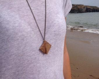 Wooden geometrical pendant