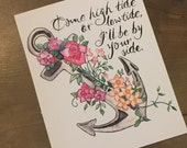 """Come High Tide or Low Tide, Ill be by your side - 8""""x10"""" Art Print"""