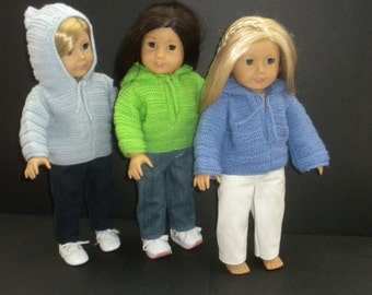 Hooded Sweater for American Girl Doll