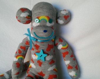Rainbow Sock Monkey