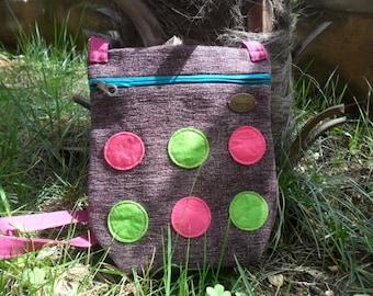 Small over the shoulder bag.Colorful bag.Everyday bag.Weekender bag.Woman bag.