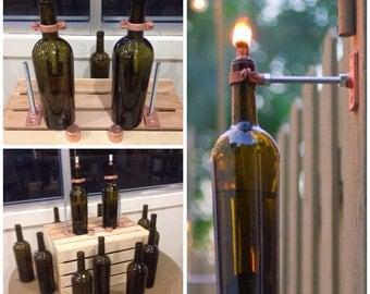 Wine Bottle Oil Lamps