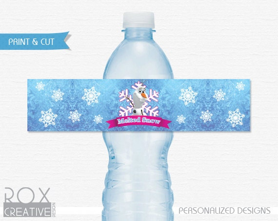 frozen water bottle labels melted snow hot girls wallpaper. Black Bedroom Furniture Sets. Home Design Ideas