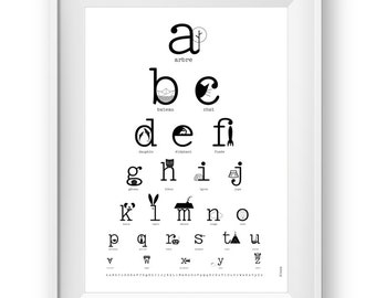 Alphabet poster, ABC print french