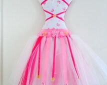 Pink & Fuschia 'Flutter' Tutu Hairbow Holder