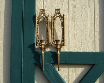 Vintage Homco Candle Sconces