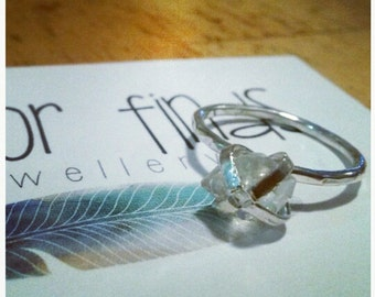 Sterling Silver and Herkimer Diamond Ring