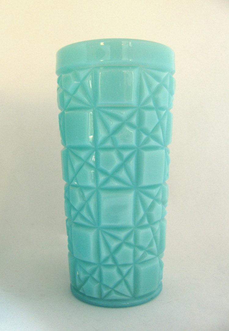 Vintage 1950s Fenton Turquoise Milk Glass By Meadowlanevintage