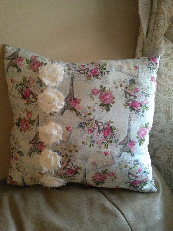 Shabby Chic Pillows On Etsy : Items similar to Handmade Shabby Chic Throw Pillow on Etsy