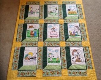 Snoopy grandmas attic style children's quilt
