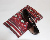 Tribal  Sunglasses  Holder. Aztec Glasses Case  .