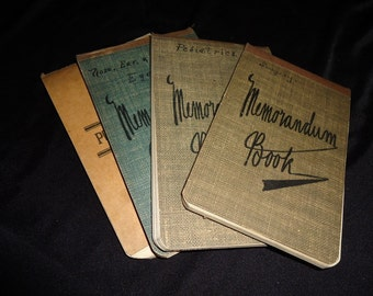 FOUR Antique 1900's Doctors Medical College Journals Notebooks