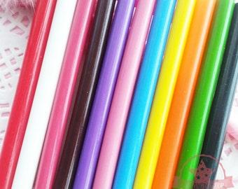 5 pcs Semi-Translucent Hot Glue Sticks Deco Sauce Chocolate Fake Icing Wax Seals  ~ T3XX