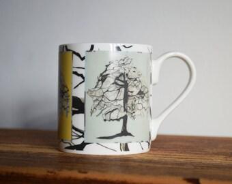 Contemporary Heritage Bone China Mugs