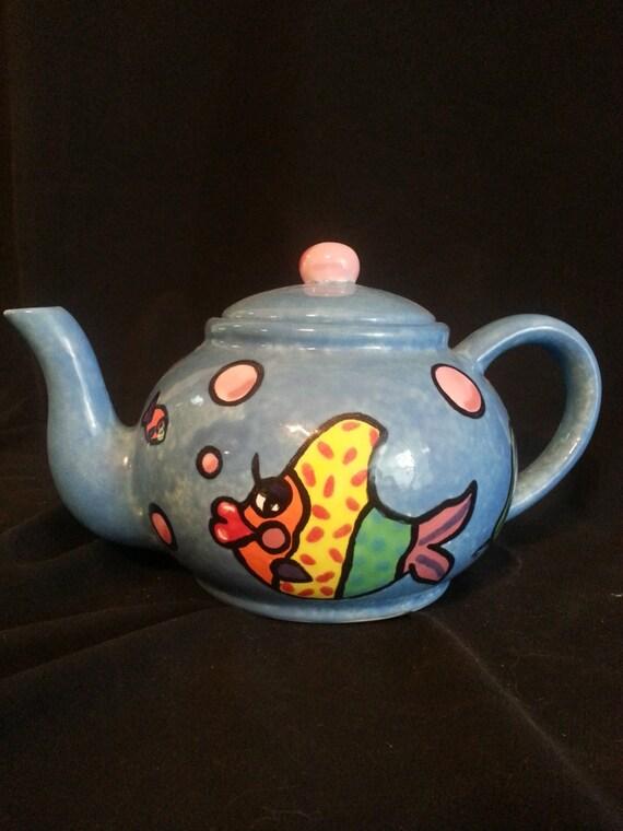 Unique Tropical Fish Ceramic Teapot