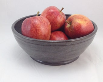 Charcoal Gray Fruit Bowl/Serving Bowl