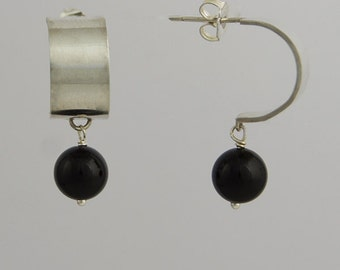 Coff Drop Earrings - Onyx