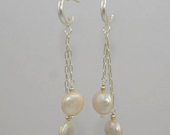 Dangling Coin Pearls - Post