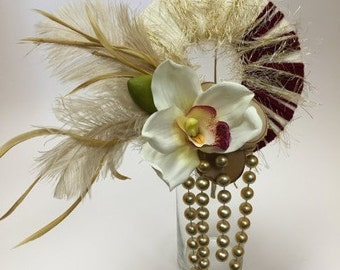 Unique Bridesmaid Bouquet Round with Orchids