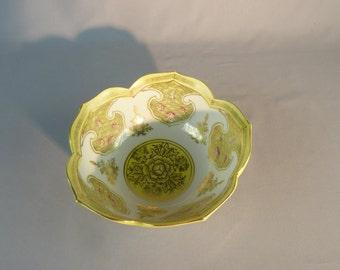 Vintage Asian Lotus Bowl