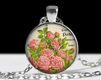 Flower Jewelry Rose Pendant Wearable Rose Pendant Charm
