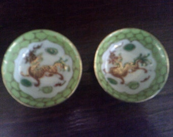 Chinese Porcelain Dragon Bowls 2 of