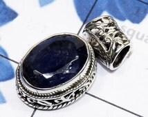 iolite pendant - Sterling Silver Pendant - Elegant Pendant - Handmade Jewelry, Semiprecious Pendant, 925 Silver Pendant, Gift For Pendant