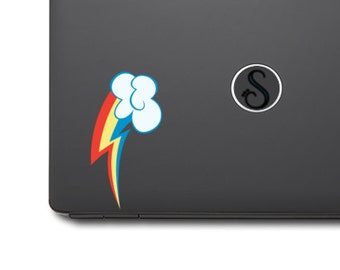 "Rainbow Dash Cutie Mark- Vinyl Decal - 1pc (5""h)"