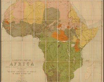 24x36 Poster; Language Map Of Africa 1883