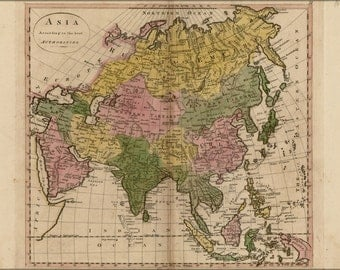 24x36 Poster; Map Of Asia 1814 P2