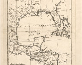 24x36 Poster; Map Of Gulf Of Mexico 1788