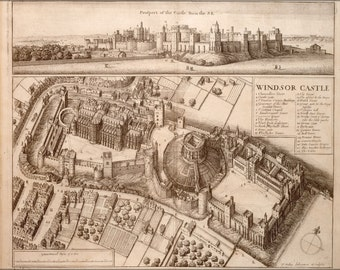 24x36 Poster; Windsor Castle 17Th Century