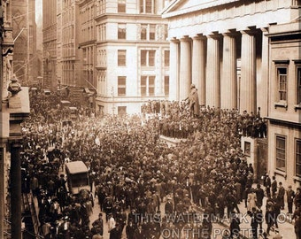 24x36 Poster; Wall Street During The Bankers Panic Of 1907