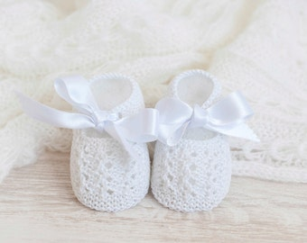 Cotton Mary Janes for hand-woven baby