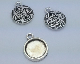 10mm Bezel Setting (antiqued) (package of 10)