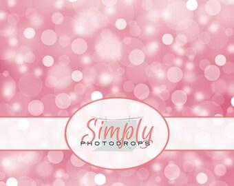 Vinyl Backdrop, PINK BOKEH , Photography Backdrop // Simplyphotodrops Premium Vinyl Backdrops